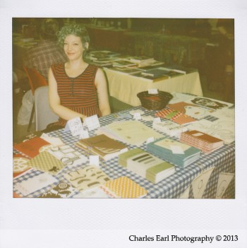Jessica Bebenek at the Fall Small Press Fair 2013